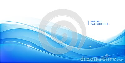 Abstract vector blue wavy background. Graphic design template for brochure, website, mobile app, leaflet. Water, stream