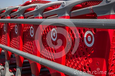 stock image of target shoppings carts