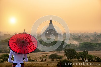Tourism industry in Bagan Mandalay Myanmar