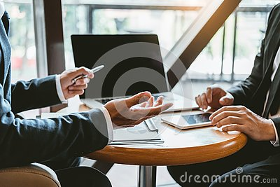 Business Consulting meeting working and brainstorming new business project finance investment concept