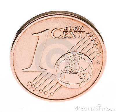 One euro cent coin