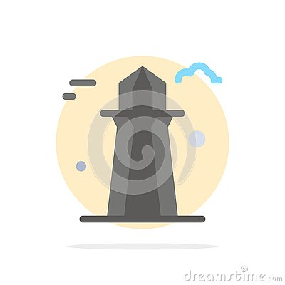 stock image of canada, co tower, canada tower, building abstract circle background flat color icon
