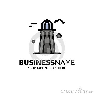 stock image of canada, co tower, canada tower, building business logo template. flat color