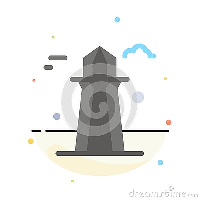 stock image of canada, co tower, canada tower, building abstract flat color icon template