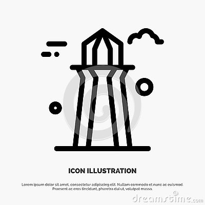 stock image of canada, co tower, canada tower, building line icon vector