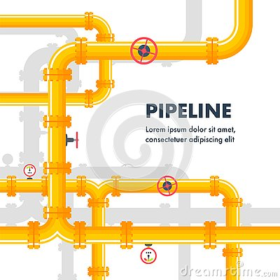 Pipeline background. Gas or oil pipes
