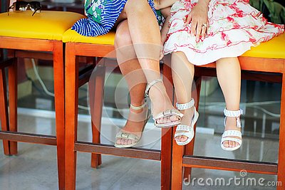 stock image of legs in summer