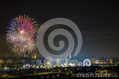 stock image of fireworks parties