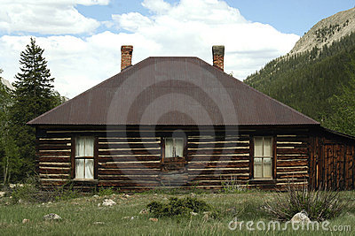 Log Cabin in the Rocky Mountains