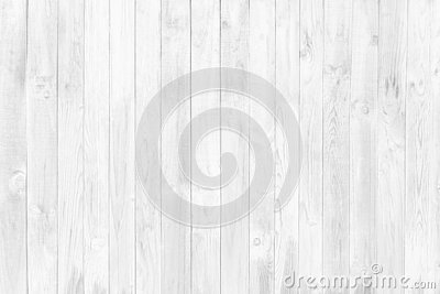 White Wood Wall Texture and Background