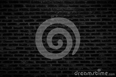 Old Dark Black Brick Wall Texture and Background