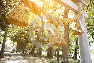 Japanese big rope in new year day named & x22;Shime-Nawa