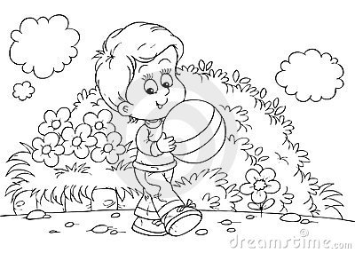 School playground coloring pages