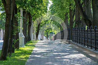 City alley in the Park, Minsk city center, the venue of the second European games