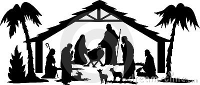 Nativity Silhouette/eps
