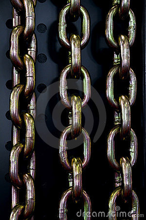 Steel chain links