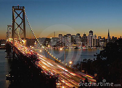 Bay Bridge & San Francisco at night