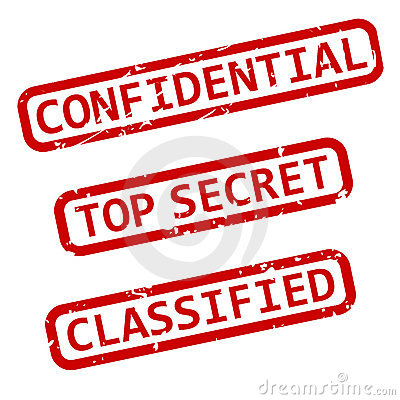 Confidential Ink Stamps EPS
