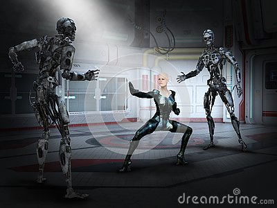 Surreal Science Fiction Fantasy, Robot Fight