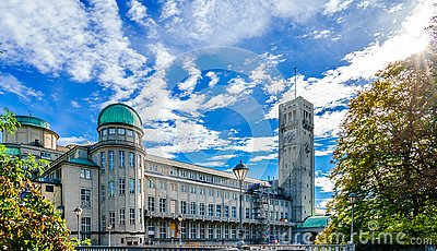 German Museum - Deutsches Museum - in Munich, Germany, the world`s largest museum of science and technology