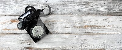 Old fashion rotary dial phone for antique technology concept
