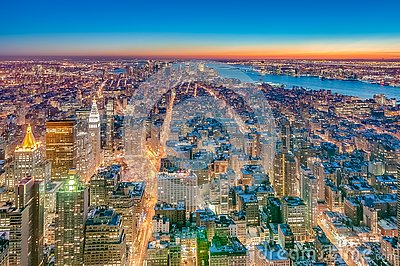 Downtown Manhattan in New York, United States