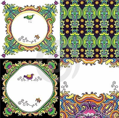 Abstract background set ( floral series)