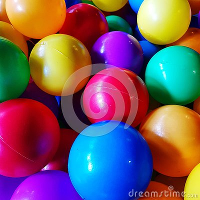 Group of colorful balls for kid
