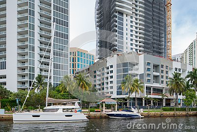 Scene on the Tarpon River Las Olas Fort Lauderdale Florida