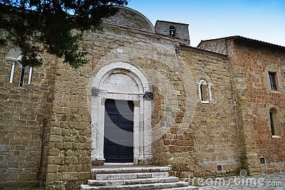 Cathedral of Saints Peter and Paul, Duomo di Sovana. Tuscany, Italy