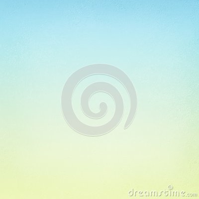 Pastel sky blue and soft yellow blurred background texture in spring gradient colors