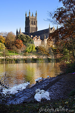 River Severn and Worcester Cathedral