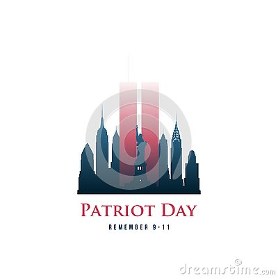 Patriot Day card with Twin Towers and phrase Remember 9-11.