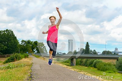 Energetic motivated exuberant middle-aged woman