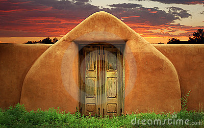 Adobe Wall with Gate