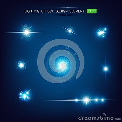 Collection of lighting effect design element 003