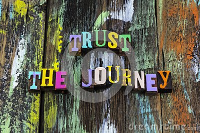 Trust journey experience trip believe yourself challenge typography phrase