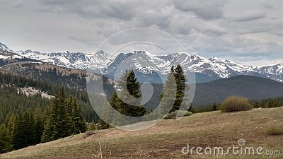 Breathtaking view of the Rocky Mountains from Boreas Pass, Colorado