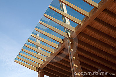Construction Site Glued Laminated Timber