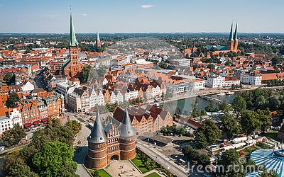 Cityscape of Lubeck