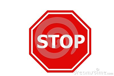 Stop sign icon on white background.