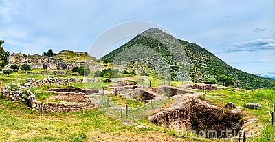 The Mycenae archaeological site in Greece