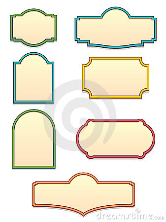 photograph about Sign Templates identified as Antique Indicator Templates EPS