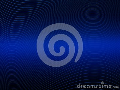 Blue abstract decorative background with waving line