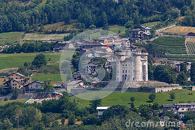 One of the many castles in Aosta Valley