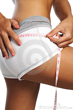 Perfect womans measure by metre-stick