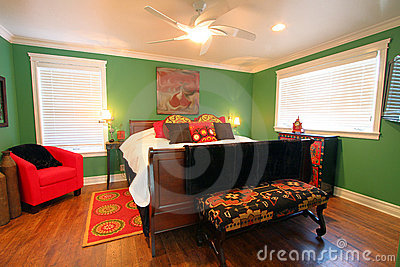 Colorful, cheery bedroom