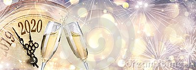 New Year 2020 - Countdown And Toast With Champagne