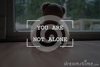You are not alone sign