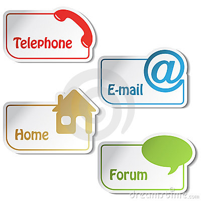 vector banners telephone email home forum